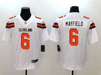 Mens Nfl Cleveland Browns #6 Baker Mayfield White Vapor Untouchable Limited Nike Jersey