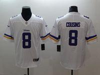 Mens Nfl Minnesota Vikings #8 Kirk Cousins White Vapor Untouchable Limited Nike Jersey