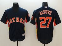 Mens Mlb Houston Astros #27 Jose Altuve Majestic Navy Flex Base Jersey