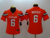 Women Youth Nfl Cleveland Browns #6 Baker Mayfield Orange Vapor Untouchable Limited Nike Jersey