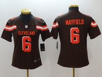 Women Youth Nfl Cleveland Browns #6 Baker Mayfield Brown Vapor Untouchable Limited Nike Jersey
