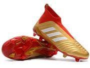 Adidas Predator 18 Fg Football Shoes Red And Gold Colour