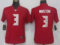 Women Nfl Tampa Bay Buccaneers #3 Jameis Winston Red Color Rush Limited Jersey