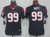Women Nfl Pittsburgh Steelers #90 T. J. Watt Navy Blue Vapor Untouchable Elite Player Jersey