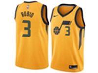 Mens 2017-18 Season Nba Utah Jazz #3 Trey Burke Yellow Nike Statement Edition Jersey