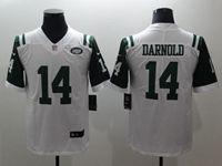 Mens New York Jets #14 Sam Darnold White Vapor Untouchable Limited Jersey