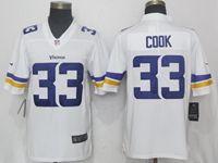Mens Nfl Minnesota Vikings #33 Dalvin Cook White Vapor Untouchable Limited Player Jersey