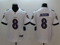 Mens 2018 New Nfl Baltimore Ravens #8 Lamar Jackson White Vapor Untouchable Limited Player Jersey