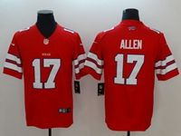 Mens Nfl Buffalo Bills #17 Josh Allen Red Vapor Untouchable Limited Jersey