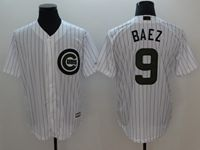 Mens Majestic Chicago Cubs #9 Javier Baez White 2018 Anniversary Edition Cool Base Jersey