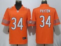 New Mens Nfl Chicago Bears #34 Walter Payton Orange Vapor Untouchable Limited Player Nike Jersey