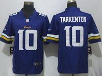 Mens Nfl Minnesota Vikings #10 Fran Tarkenton Purple Vapor Untouchable Limited Player Nike Jersey