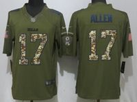Mens Nfl Buffalo Bills #17 Josh Allen Green Salute To Service Nike Limited Jersey