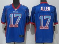Mens Nfl Buffalo Bills #17 Josh Allen Drift Fashion Blue Elite Nike Jersey