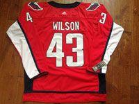 Mens Nhl Washington Capitals #43 Tom Wilson Red Home Adidas Premier Jersey