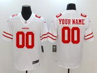 Mens Women Youth Nfl San Francisco 49ers (custom Made) White Vapor Untouchable Limited Jersey