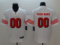 Mens Women Youth Nfl San Francisco 49ers (custom Made) White 2018 Color Rush Limited Jersey