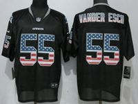 Mens Nfl Dallas Cowboys #55 Leighton Vander Esch Black Usa Flag Fashion Elite Jersey