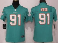Women Nfl Miami Dolphins #91 Cameron Wake Green 2017 Vapor Untouchable Elite Player Jersey