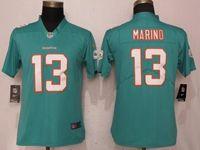 Women Nfl Miami Dolphins #13 Dan Marino Green 2017 Vapor Untouchable Elite Player Jersey