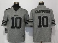 Mens San Francisco 49ers #10 Jimmy Garoppolo Gray Vapor Untouchable Stitched Gridiron Limited Jersey