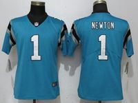 Women Nfl Carolina Panthers #1 Cam Newton Blue Vapor Untouchable Elite Player Nike Jersey
