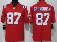Mens New England Patriots #87 Rob Gronkowski Red Vapor Untouchable Limited Player Jersey