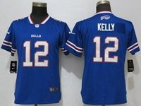 Women Nfl Buffalo Bills #12 Jim Kelly Blue 2017 Vapor Untouchable Elite Player Jersey
