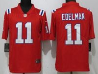 Mens New England Patriots #11 Julian Edelman Red 2017 Vapor Untouchable Limited Player Jersey