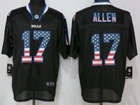 Mens Nfl Buffalo Bills #17 Josh Allen Black Usa Flag Fashion Elite Nike Jerseys