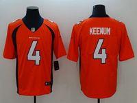 Mens Nfl Denver Broncos #4 Case Keenum Orange Vapor Untouchable Limited Jersey