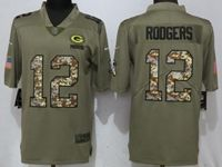 Mens Green Bay Packers #12 Aaron Rodgers Camo Carson 2017 Salute To Service Limited Jersey