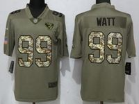 Mens Houston Texans #99 Jj Watt Olive Camo Carson 2017 Salute To Service Limited Jersey