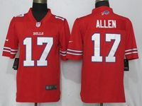 Mens Nfl  Buffalo Bills #17 Josh Allen Red Color Rush Limited Player Jersey