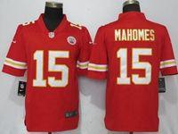 Mens Nfl Kansas City Chiefs #15 Patrick Mahomes Red Vapor Untouchable Limited Player Jersey
