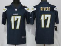 Mens Los Angeles Chargers #17 Philip Rivers Dark Blue 2017 Vapor Untouchable Limited Jersey