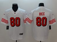Women Youth Nfl San Francisco 49ers #80 Jerry Rice White 2018 Color Rush Limited Player Jersey