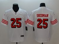 Women Youth Nfl San Francisco 49ers #25 Richard Sherman White 2018 Color Rush Limited Player Jersey