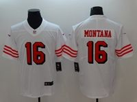 Women Youth Nfl San Francisco 49ers #16 Joe Montana White 2018 Color Rush Limited Player Jersey