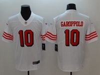 Women Youth Nfl San Francisco 49ers #10 Jimmy Garoppolo White 2018 Color Rush Limited Player Jersey