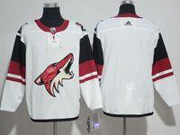 Mens Nhl Arizona Coyotes Blank White Adidas Away Jersey