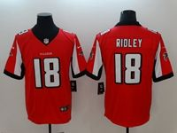 Mens New Nike Atlanta Falcons #18 Calvin Ridley Red Vapor Untouchable Limited Jersey