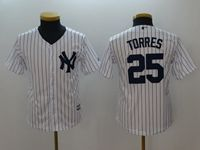 Youth Mlb New York Yankees #25 Gleyber Torres White Cool Base Jersey