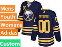 Mens Women Youth Adidas Nhl Buffalo Sabres (custom Made) Blue Home Breakaway Jersey