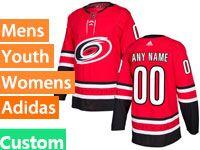 Mens Women Youth Nhl Carolina Hurricanes Custom Made Red Home Adidas Jersey