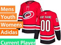 Mens Nhl Carolina Hurricanes Adidas Red Home Premier Current Player Jersey