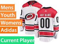Mens Nhl Carolina Hurricanes Adidas Away White Premier Current Player Jersey