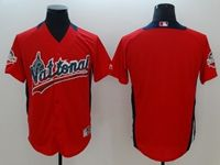 Mens Majestic Washington Nationals Blank Red 2018 All Star Cool Base Jersey