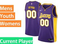Mens Women Youth Nba Los Angeles Lakers Current Player Nike Swingman Purple Jersey