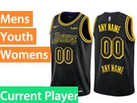 Mens Nba Los Angeles Lakers Current Player Black Nike City Authentic Jersey
